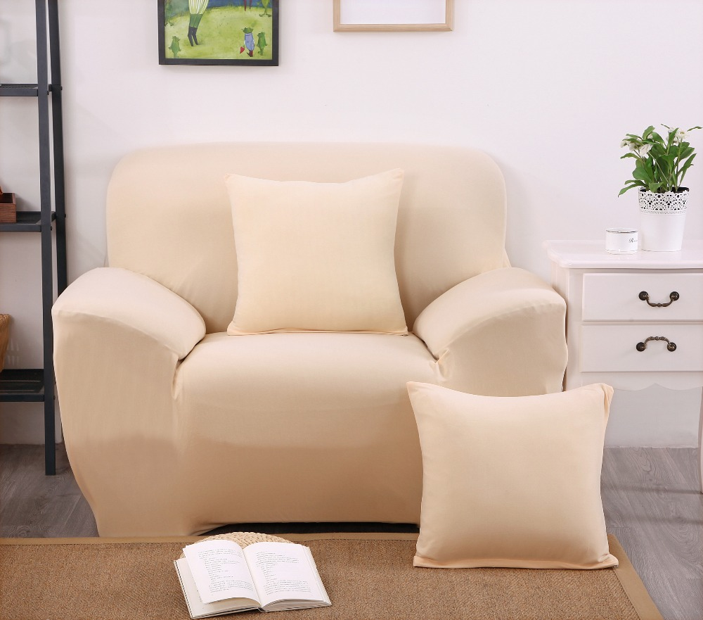 Beige color l shaped sofa cover sofa slipcovers cheap wrap for Couch beige