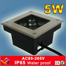 5*1W LED underground light square shape outdoor Landscape stair lighting  floor lamps IP65 AC85-265V  3 year warranty