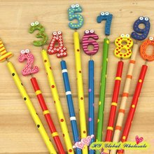 40PCS/lot New Cute Number Wooden Pencils Office and Study Pencils Gift for Kids Gift