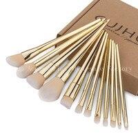 Professional Women Golden 12pcs Set Makeup Brush 50 Set Multifunction Foundation Powder Blush Eyebrow Brushes Brush
