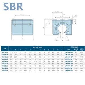Image 2 - 4 قطعة SBR20UU SBR20 20 مللي متر الخطي الكرة تحمل كتلة نك راوتر نك أجزاء