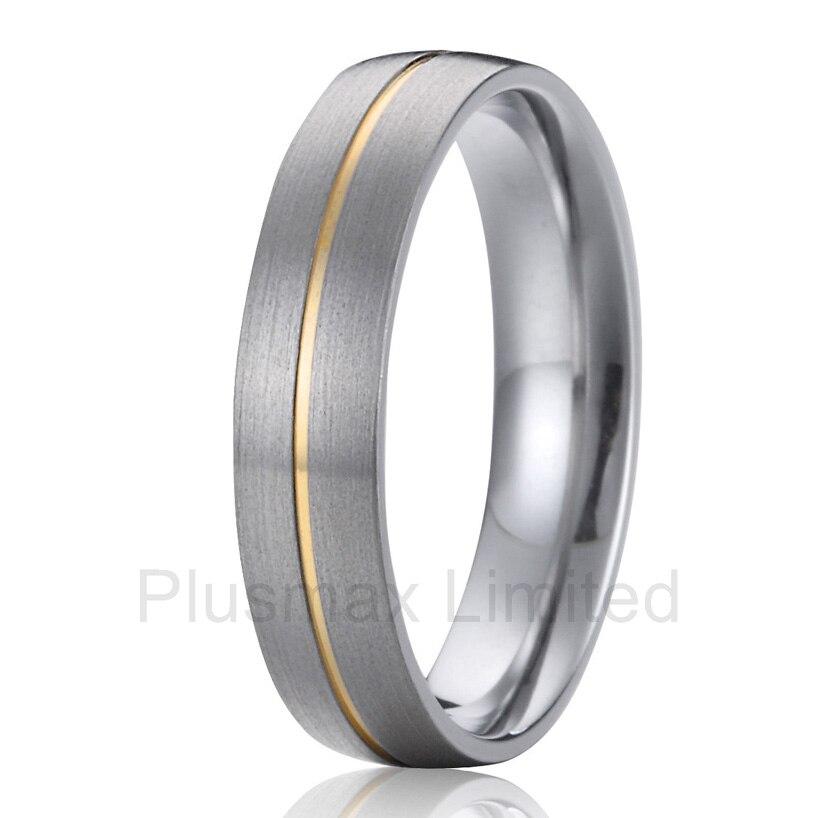Haute qualité le meilleur détaillant en ligne offre classique personnalisé hommes titane promesse anneaux de mariage