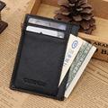 Fashion Wallet Slim Credit Card Holder ID Business Card Slots Mens Genuine Leather Wallet Black Hot sale!