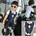 New Boys Clothes set Gentleman Kids Suit Tops + Pants
