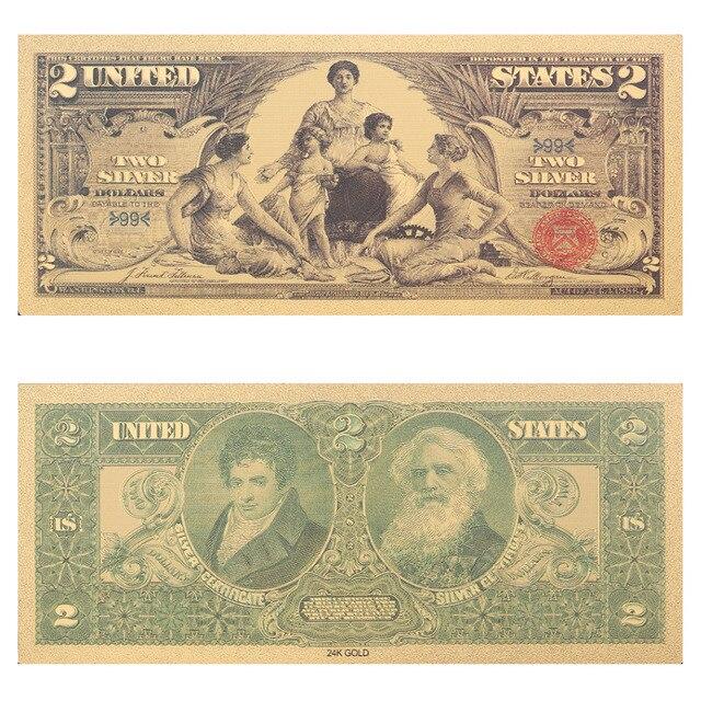 Vnfuru Best Price America Usa Dollar Gold Banknote Colorful World Money For Souvenirs Golden Angel Pattern