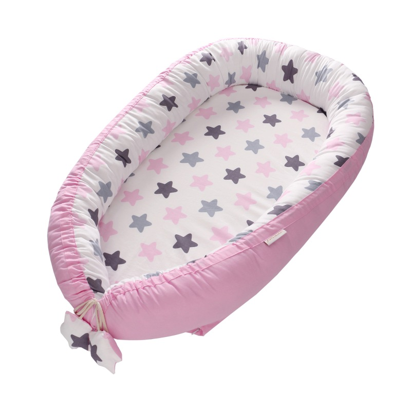 Newborn Baby Middle Bionic Bed Washable Portable Cotton Cradle Bumper Multiple Styles Travel Isolation Bed