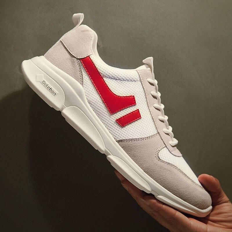 Men's Casual Shoes Original Spring New Net Shoe Man Breathable Cloth Shoes Tide Black Lattice Strap Shoe