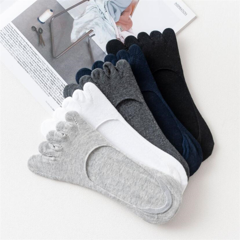 1pair Socks Men 5 Finger Socks Cotton Spring Summer Comfortable Breathable Toes Sock Men's 5 Finger Short Sock