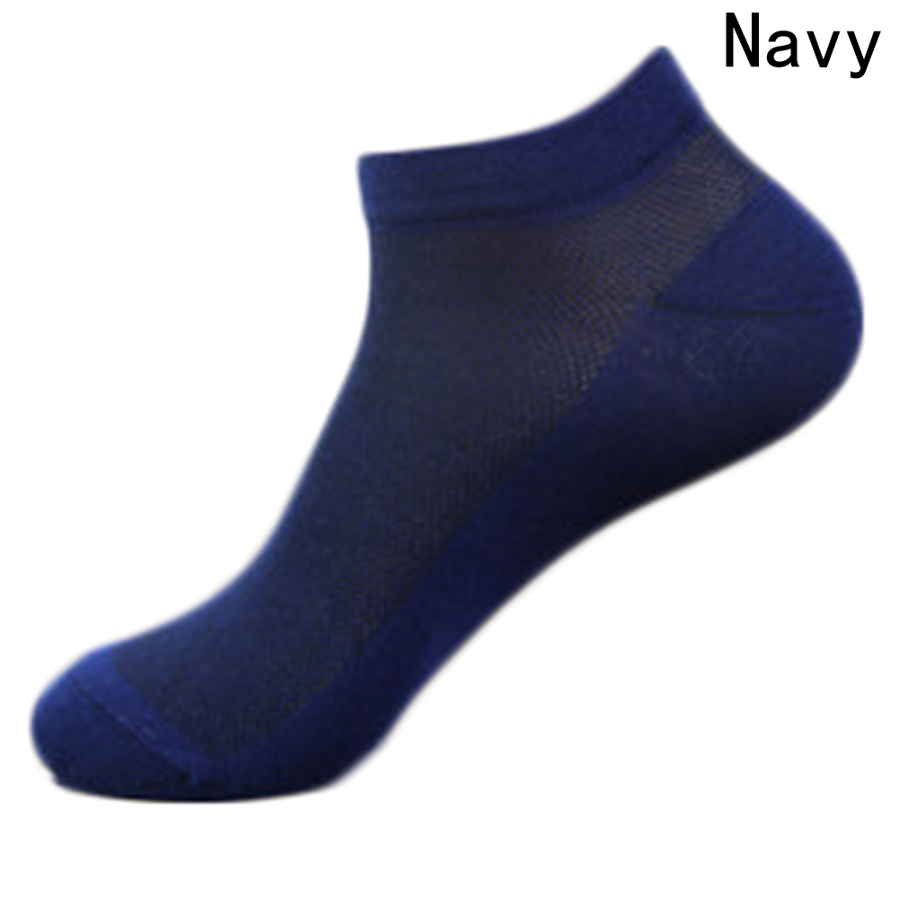 BUBABOX 1 Pair Solid Mesh Mens Socks Invisible Ankle Socks Men Summer Breathable Thin Boat Socks Average Size cheap price