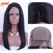 Unprocessed Silk Top Wigs With Natural Hairline and Baby Hair Silky Straight 100 Human Hair Glueless