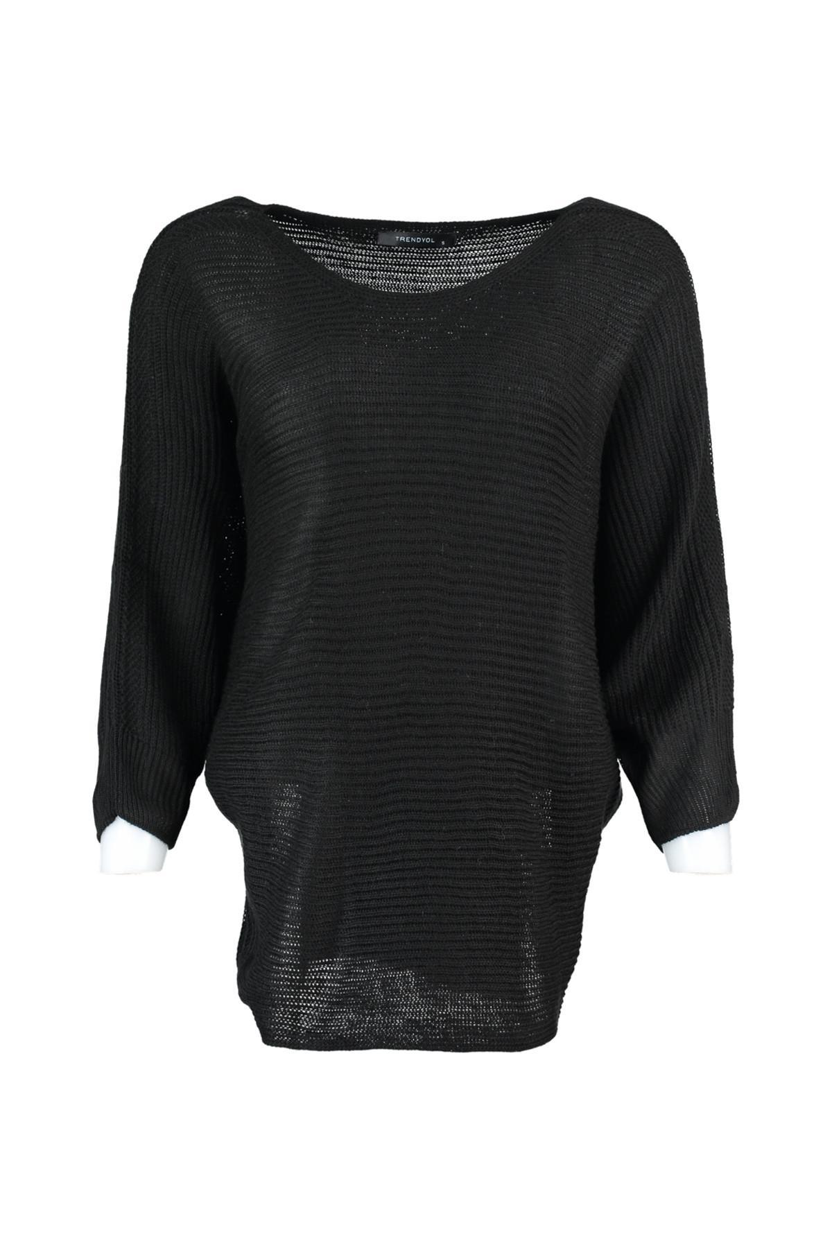 Trendyol WOMEN-Black Bat Sleeve Sweater TWOAW20ZA0015