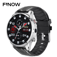 2019 New Finow X7 4G Smart Watch Men 1.39 inch AMOLED 400*400 GPS/GLONASS Quad C