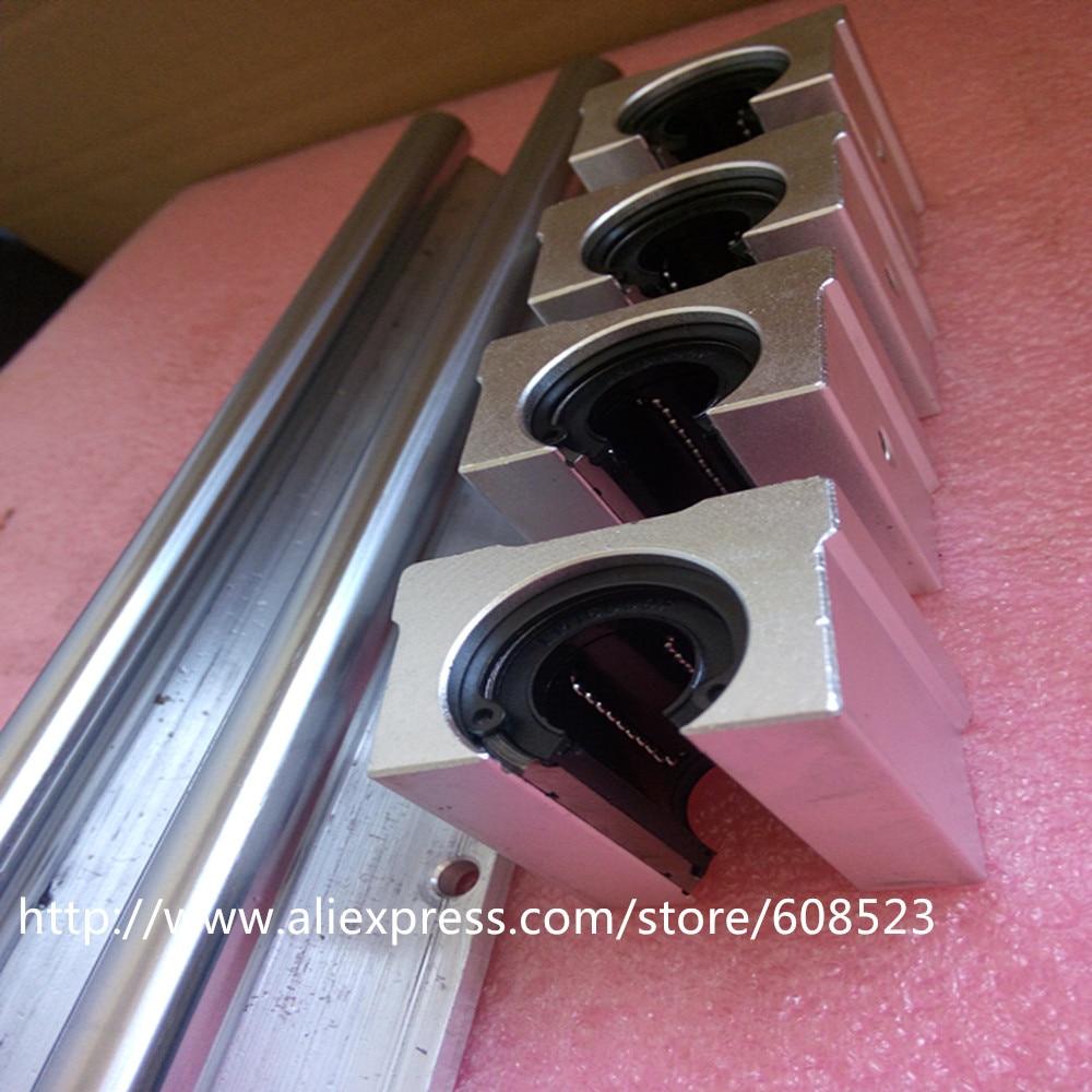 ФОТО 2pcs SBR12 Linear Rails rod 250mm + 4pcs SBR12 UU CNC