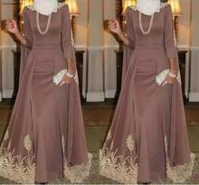 2019 Muslim High Neck Evening Dress A Line Gold Applique Holiday Wear Pageant Prom Party Gown Custom Made Plus Size