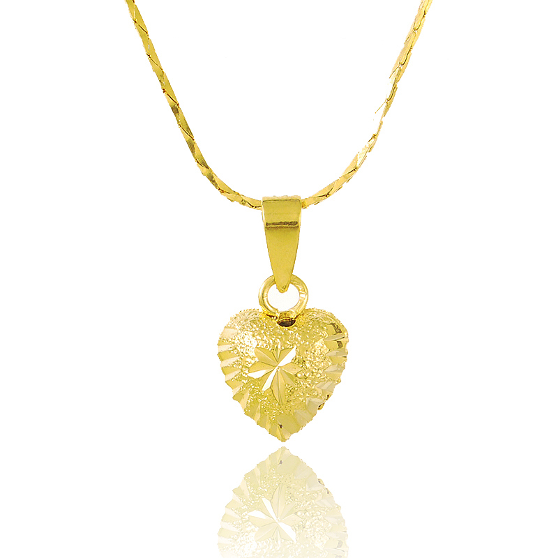 JP153 Plated 24K Gold Necklaces For Women 2015 Charm Heart Shaped ...