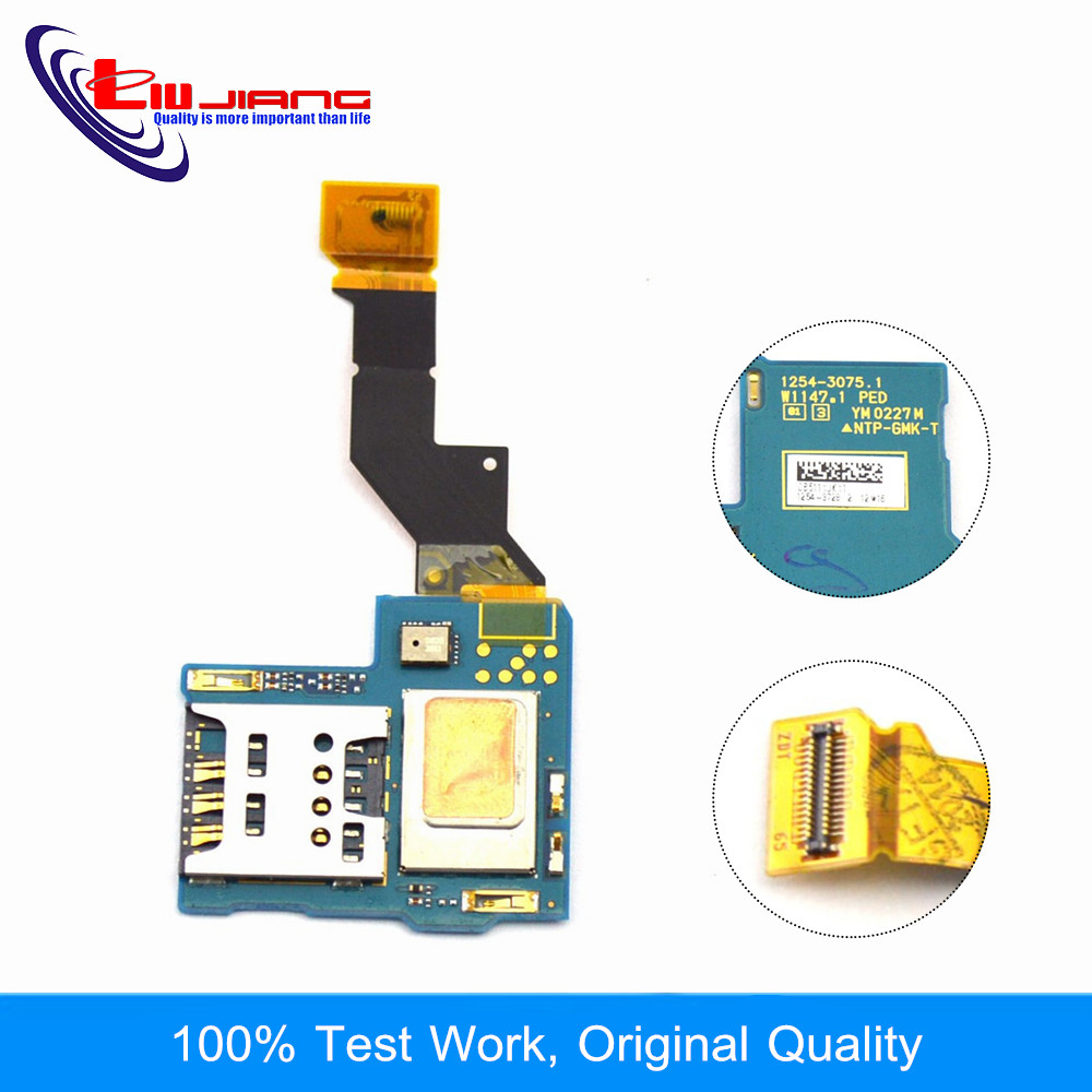 Liujiang Original for Sony S LT26 SIM Card Reader Contact Flex Cable Ribbon for Sony LT26 Free Shipping