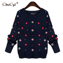 Wool sweaters round neck long sleeve sleeves computer knitted women's blouses