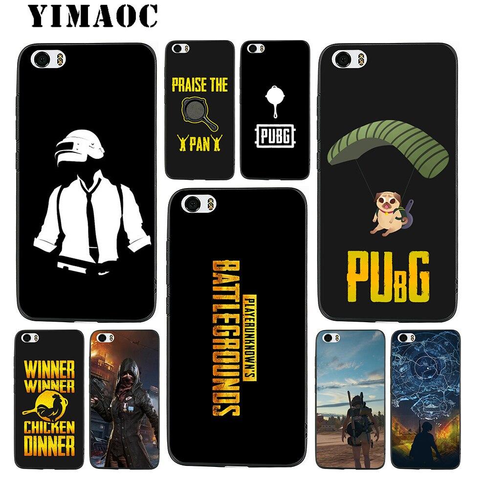 YIMAOC font b PUBG b font Game Art Soft Silicone Case for Xiaomi Redmi Note Mi