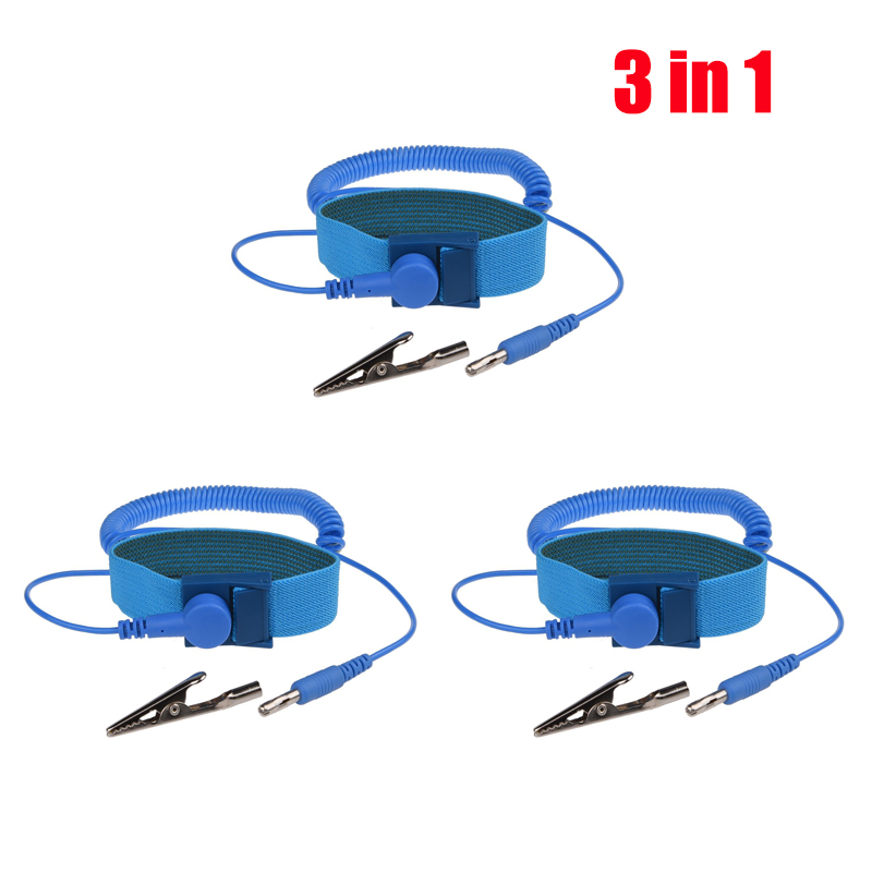 Power Tool Accessories Hand & Power Tool Accessories Efficient New Adjustable Anti Static Bracelet Electrostatic Esd Discharge Cable Reusable Wrist Band Strap Hand With Grounding Wire