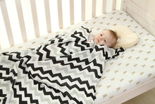 LAT Organic Cotton Receiving Blanket – Chevron & Christmas Tree Print Softest Swaddling Blanket For your lovely baby
