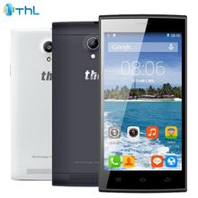 "D'origine THL T6C Mobile Téléphone 5.0 ""écran MTK6580 Quad-Core 1.3 GHZ 1 GB RAM 8 GB ROM Android 5.1 Dual SIM 5.0MP Caméra Smartphone"