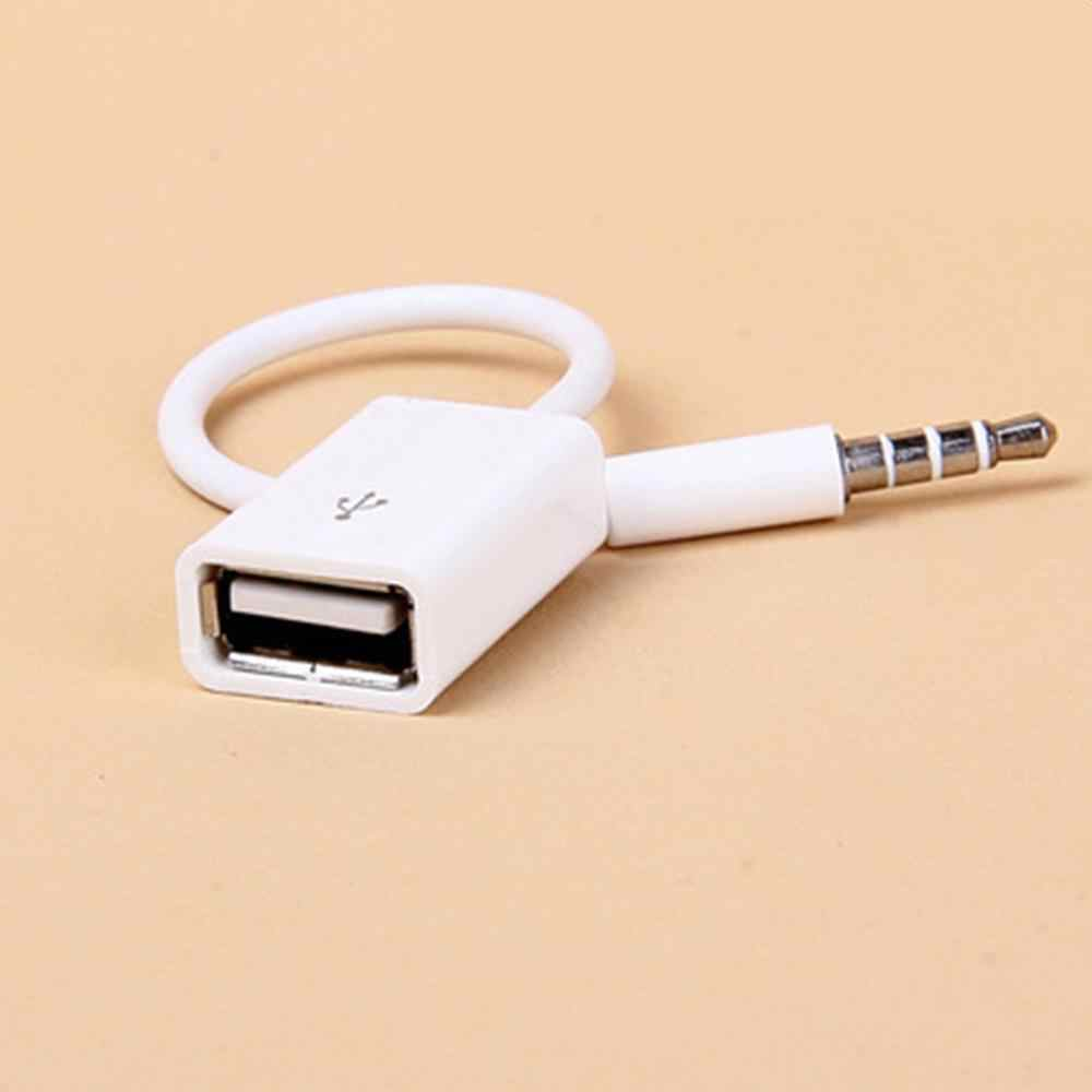 Adeeing Car MP3 3.5mm Male AUX Audio Plug Jack To USB 2.0 Female Converter Cable Headphone Cable high quality PVC for VW SUV r45