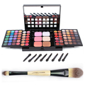 Alta Calidad Pro Cosplay 78 Colores Set Maquillaje con Maquillaje de Sombra de Ojos + Gloss Labial + Corrector + Blush + Power pslette Envío Gratis