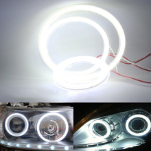цена на Fog light 60MM +PC cover Car Angel Eyes Led Car Ring Lights Led Angel Eyes Headlight for Car Auto Moto Motorcycle DC 12V 6W