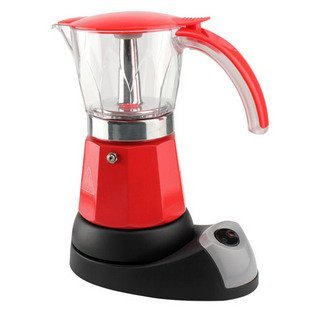 Eight Edges and corners Electric Moka electric coffee pot (360degree rotation base) Six copies of the orange