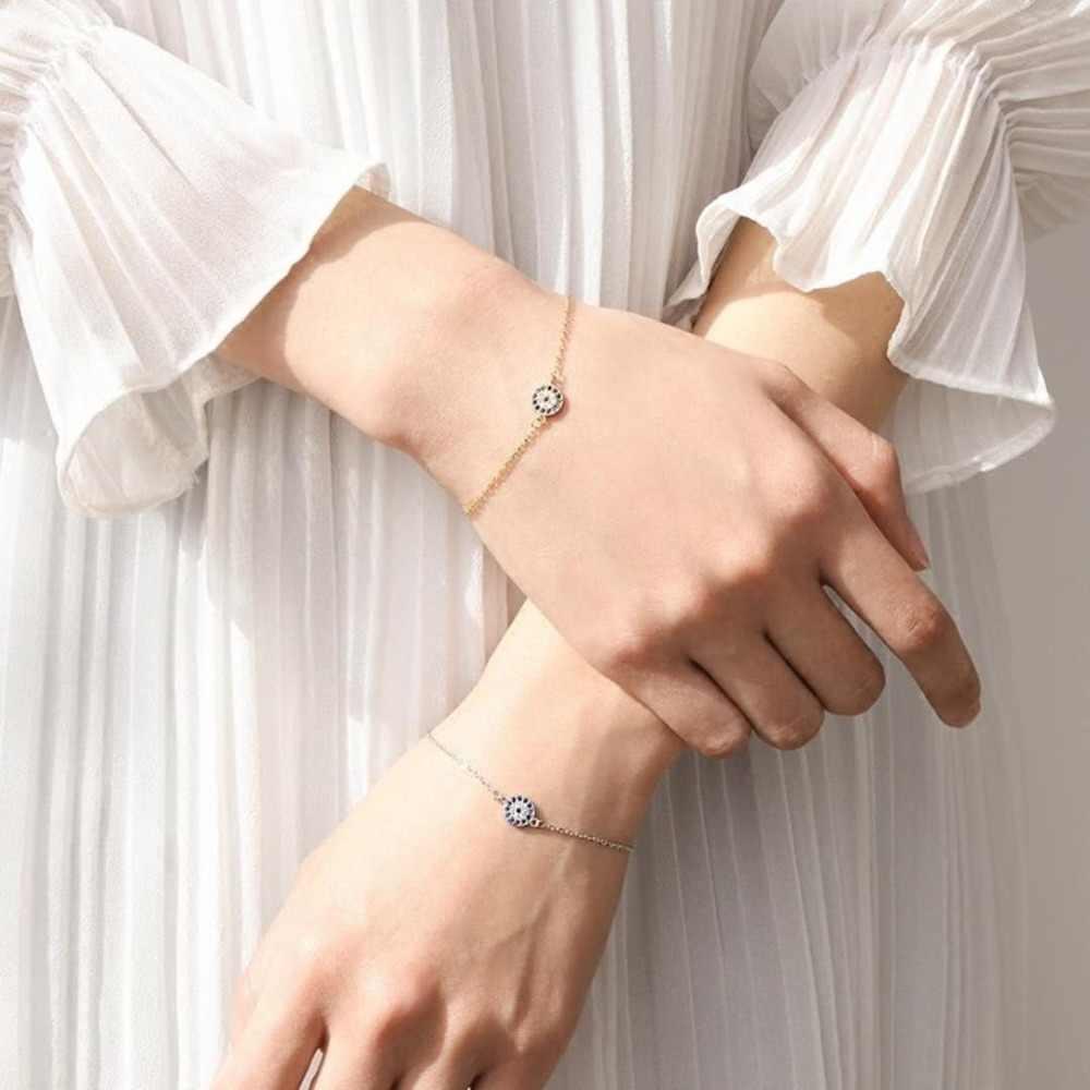 Evil eye 925 Embouti Argent Plaqué Bracelet Nazar Boncuk Charme Bracelet & Bracelet pour les Femmes Cadeaux Bijoux femme livraison gratuite