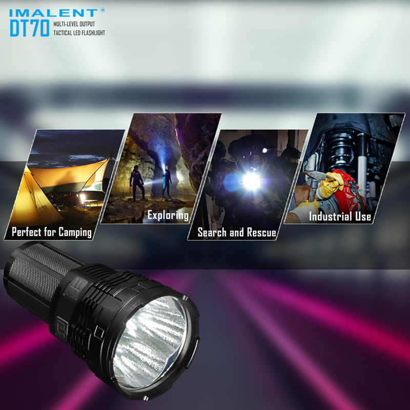 16000 ルーメン IMALENT DT70 USB 充電式 LED 戦術的な懐中電灯マルチレベル出力 & OLED ディスプレイ  グループ上の ライト & 照明 からの 懐中電灯 & トーチ の中 2
