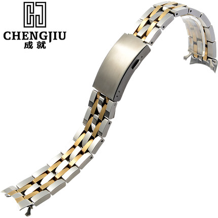 19mm Watch Strap For Tissot For PRC200/T461/T014/T019/ For Visodate Steel Watches Band Chain Bracelet Belt Watchbands With Tools кухонная мойка omoikiri tovada 51 bl 510х510 черный 4993369