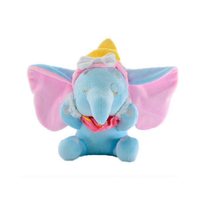 1 pc 25cm Cartoon Dumbo Elephant Plush Doll Children Soft Baby Animal Toys Cute  Mobile Toy