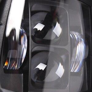 Image 3 - 2 pces 5 polegada 35w led luz de trabalho alta baixa feixe 12v 4x4 offroad barco caminhão suv atv motocicleta farol para jeep 24v luzes de condução