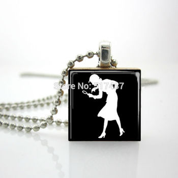 2015 New Scrabble Game Tile Jewelry Nancy Drew Necklace Scrabble Pendant Charm Gifts For Her image