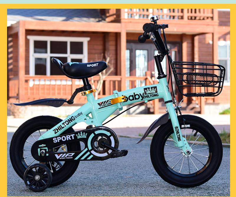 HTB1Mw59XR1D3KVjSZFyq6zuFpXaI New children's bicycle Boys and girls cycling bike 12/14/16/18 inch folding kid's bicycle Light students bicycle