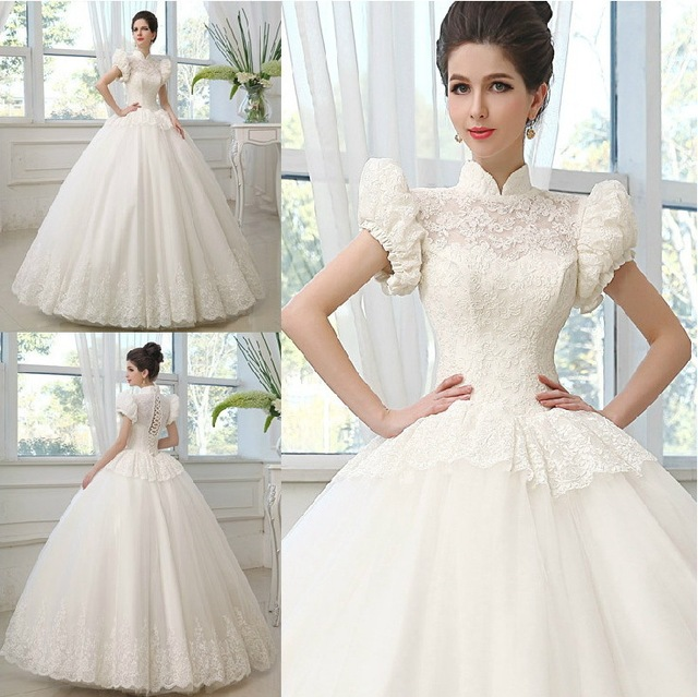 Luxury Muslim Princess Wedding Dress Bridal Gown Palace Vestido De ...