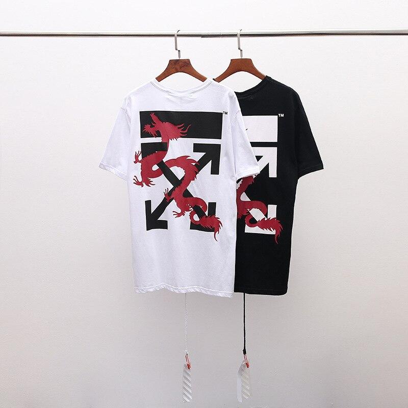 19SS blanc cassé C/O VIRGIL ABLOHC/O VIRGIL ABLOH macao Limited chinois Dragon streetwear hommes femmes T-Shirt à manches courtes
