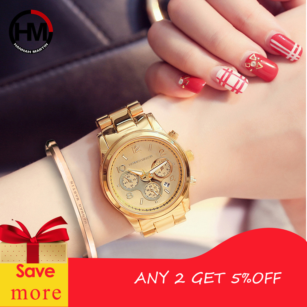 2018 Classic Women Rose Gold Top Brand Luxury Laides Dress Business Fashion Casual Waterproof Watches Quartz Calendar Wristwatch 1