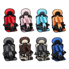 Portable Safe Baby Simple Car Seat Toddler Mat Safety Cushion Five Point Harness Soft for Kids 3-12 Y