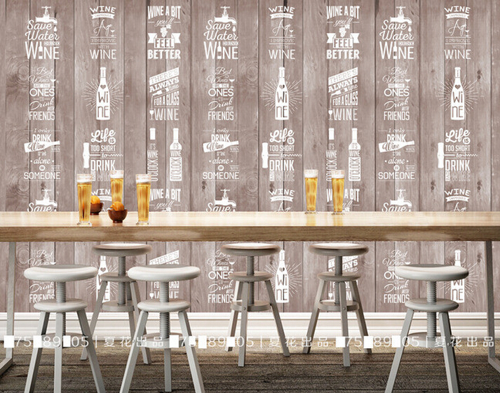 Carta da parati per soggiorno beibehang papel de parede for Carta da parati bar