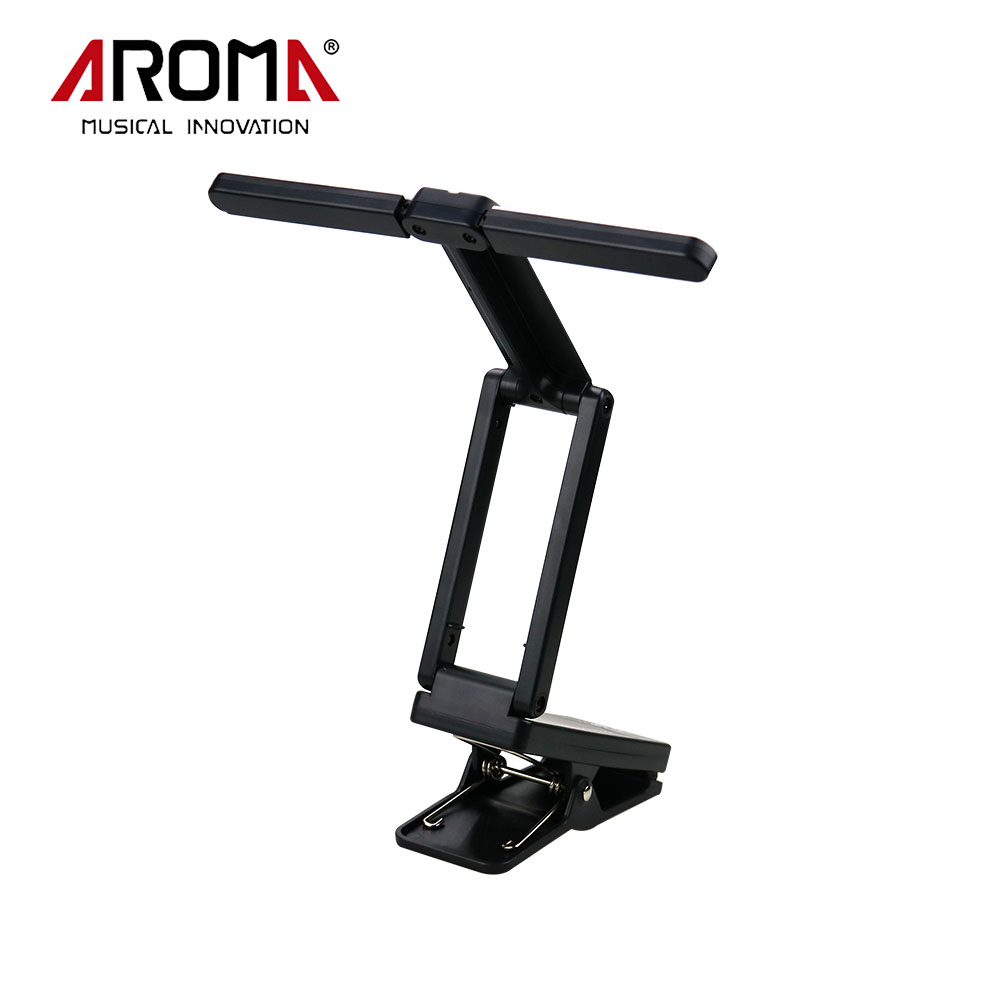 Aroma AL-1 Portable Clip-on USB Rechargeable LED Music Stand Lamp For Guitar Piano Comfortable Reading ...