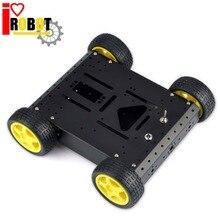 Rotoup Akıllı Robot Araba Şasi Kiti Kaçınma Takip 4WD Motor Tekerlekler Mobil Robot Platformu Arduino # RBP017 IÇIN Alüminyum şase