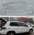 for Volkswagen Tiguan window trim/window frame/cover,304 stainless steel,great wholesale(around window) 10pcs for 2008-2012-2013