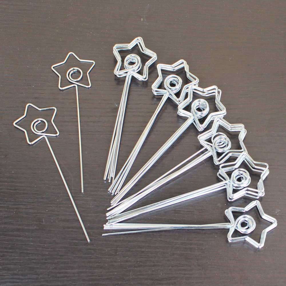 lot 50pcs diy star shape craft wire place holder clamp accessories