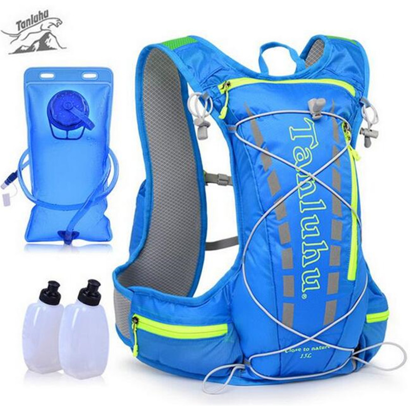 TANLUHU Trail Running Bag 15L <font><b>Hydration</b></font> Backpack Jogging Sport Vest Waist Pack For Climbing Running Hiking Cycling