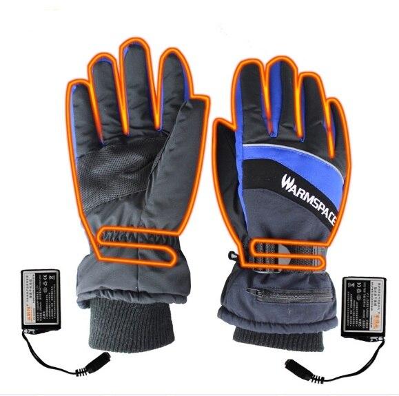 Winter USB Beheizte Handschuhe USB Hand Wärmer Elektrische Thermische Akku Motorrad Fahrrad Ski Motorrad Handschuhe Unisex