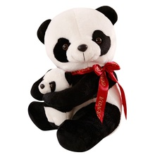 25/50CM Good Quality Sitting Mother and Baby Panda Plush Toys Stuffed Dolls Soft Pillows Kids Xmas Gifts Super Cute