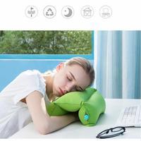 1 Pcs Creative Air Inflatable Travel Pillow Neck Back Seat Cushion Home Office Airplane Car Sleep