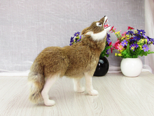 Simulation yellow wolf polyethylene&furs wolf model funny gift about 29cmx10cmx28cm